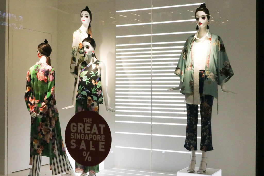 Zara window Singapore