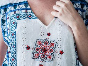 Baliza ethical kaftan dress