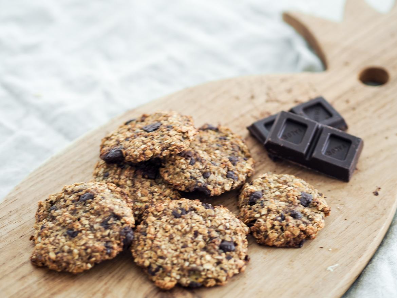 healthy chocolate and banana breakfast cookies